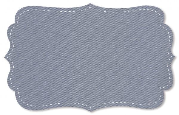 Gabardine Stoff - uni - dapple gray