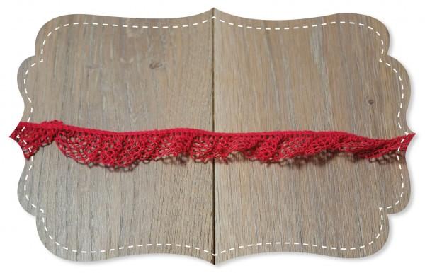 Elastische Spitze Salou rococco red