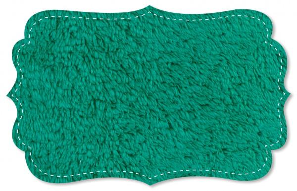 Plüsch Stoff - uni - blue grass
