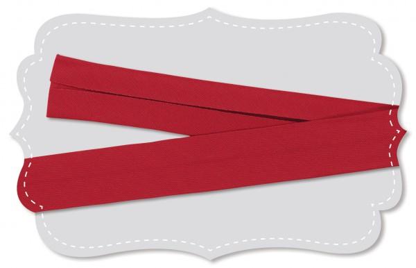 Schrägband - Bio-Baumwollstoff - uni - tango red