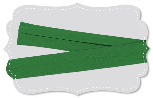 Schrägband - Bio-Baumwollstoff - uni - medium green