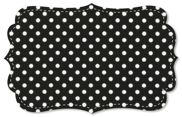 Single Jersey Stoff - mittelgroße Punkte - jet black/weiß