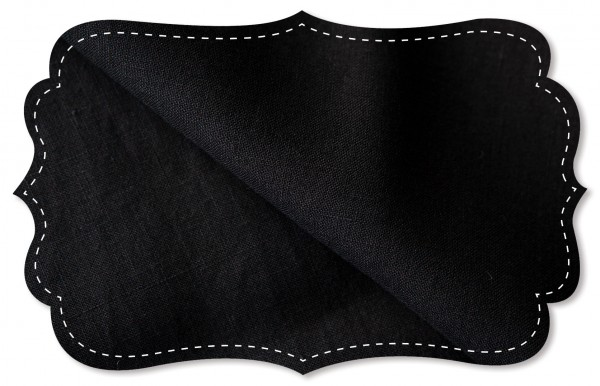 Leinen - 150 cm - uni - black