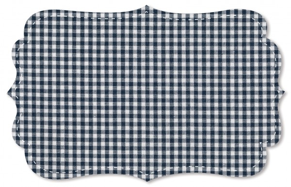 Popeline fein Stoff - kleines Webkaro - navy blazer/weiß