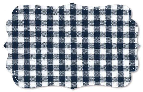 Popeline fein Stoff - Webkaro - navy blazer/weiß