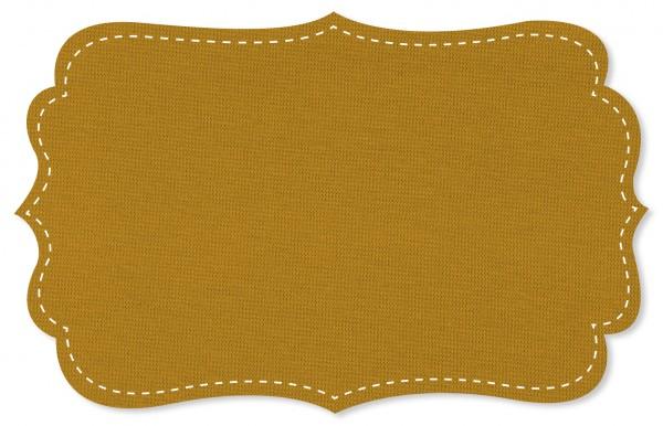 Bündchenware Rib 1x1 Stoff - uni - honey