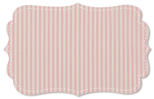 Popeline fein Stoff - feine Webstreifen - candy pink/weiß