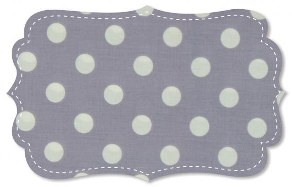 Popeline fein Stoff - große Punkte wasserabweisend beschichtet - lavender aura/weiß