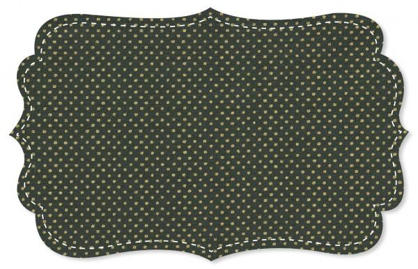 Single Jersey Stoff - Golden Dots Dark Slate
