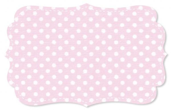 Interlock Stoff - mittelgroße Punkte - blushing bride/weiß
